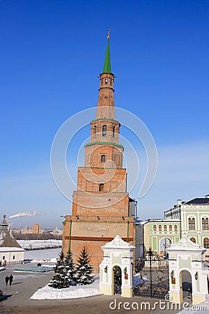 Free Falling Tower Suyembeki In The Kazan Kremlin. Royalty Free Stock Photo - 13451295
