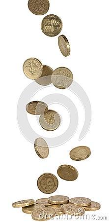 Falling UK Coins
