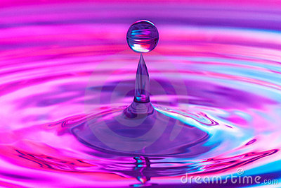 Falling Water Drop Sto...
