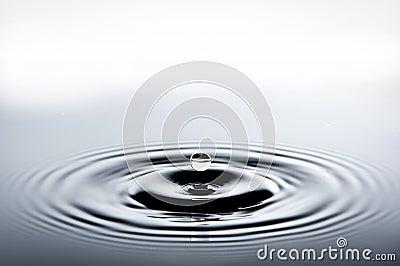 Falling water drop