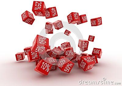 Fallingt Red Cubes