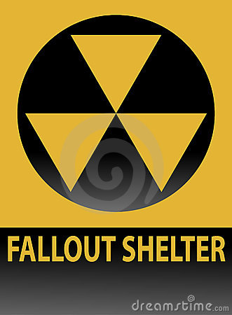 Free Fallout Shelter Sign Royalty Free Stock Image - 974706