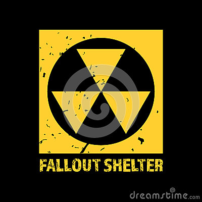 Free Fallout Shelter. Vintage Nuclear Symbol. Radioactive Zone Sign. Vector Illustration Royalty Free Stock Image - 86181676