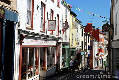 Falmouth, England: Prince Street Shops Editorial Photography