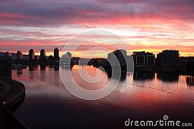 False Creek Dawn, Downtown Vancouver