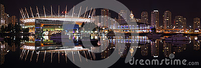 False Creek Night Panorama, Vancouver