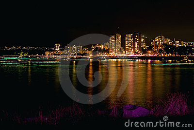 False Creek Vancouver at Night