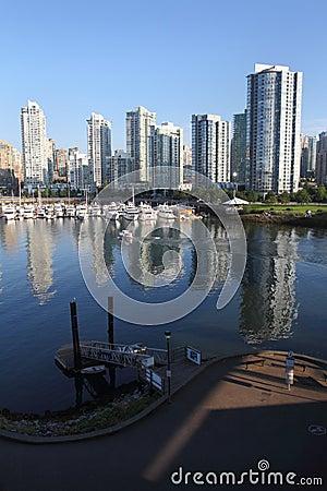 Free False Creek, Yaletown Reflections, Vancouver Royalty Free Stock Photos - 26344778