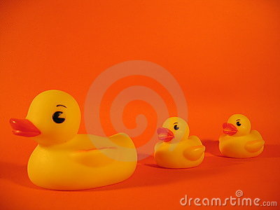 Família Ducky de borracha mim