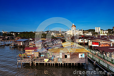 Famed water village of Brunei s capital city