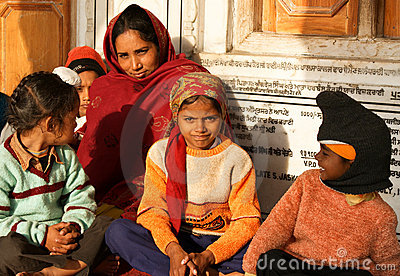 Famiglia a Amritsar, India Immagine Stock Editoriale