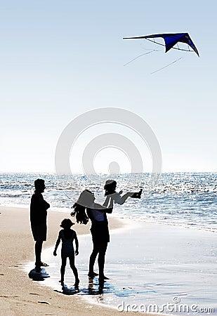 Famiglia e un cervo volante