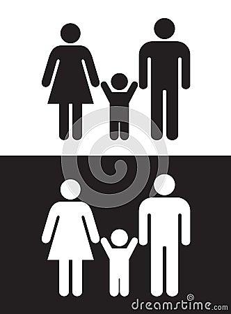 Familia blanco y negro imagen de archivo imagen 10356881 - Familias en blanco y negro ...