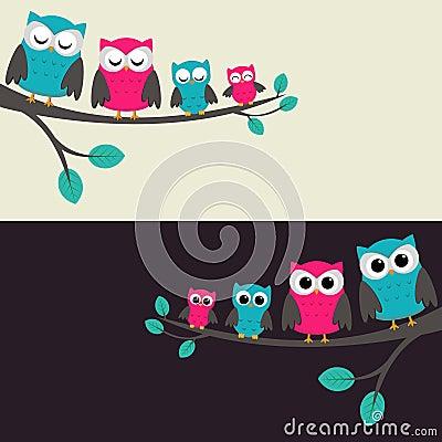 Familia de buhos