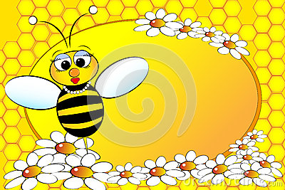 Familia de las abejas: Mama - ilustración de los cabritos