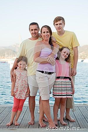 Familia de las vacaciones de verano