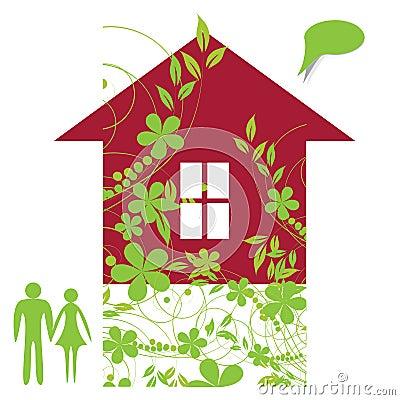 Familia en casa ideal
