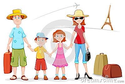 Familia en viaje