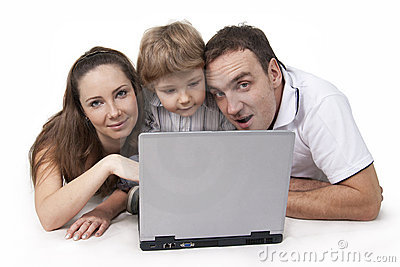 Familie en computer