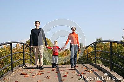 Familie met jongen