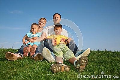 Familie met kinderen