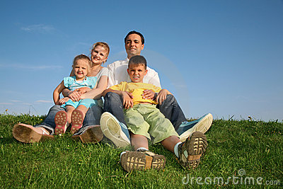 Familie mit Kindern