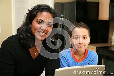 Familie op Computer