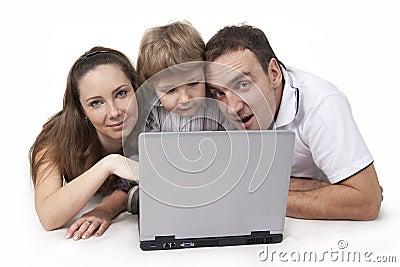 Familie und Computer