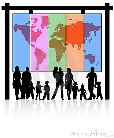 Free Families And Map Stock Photo - 15635730