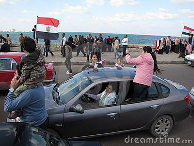 Families joined the Egyptian Demonstrations Editorial Image