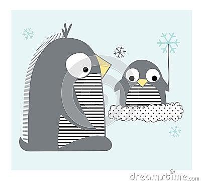 Famille de pingouins