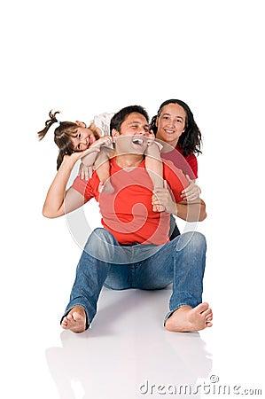 Famille joyeux