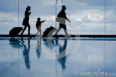 Family at the airport