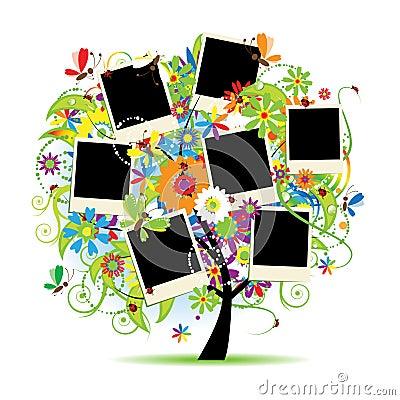 Free Family Album. Floral Tree Royalty Free Stock Image - 13476016
