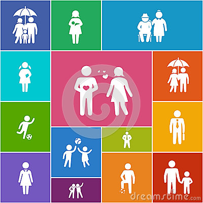 Free Family And Friends Icons Stock Photography - 30227122