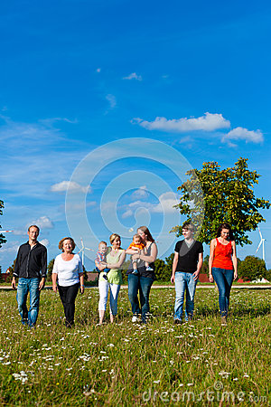 Free Family And Multi-generation - Fun On Meadow In Summer Stock Images - 32787444