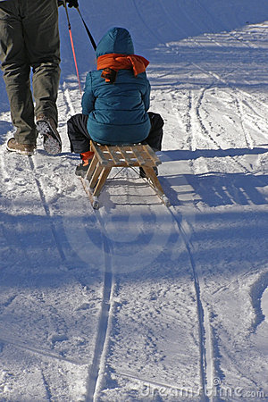 Free Family And Winter Fun Stock Photography - 12212272