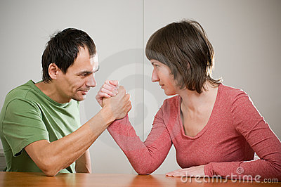 Family arm wrestling