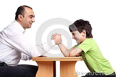 Family arm wrestling