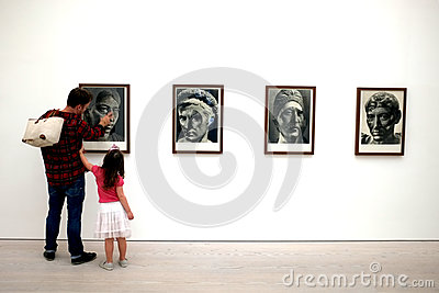 Family in Art exhibition at the Saatchi Gallery Editorial Photography