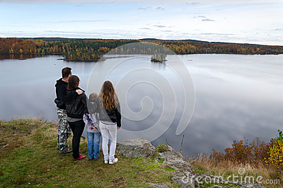 Family autumn travel