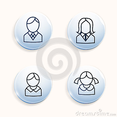 Family avatars icons