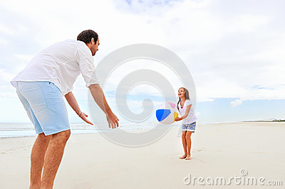 Family beach fun