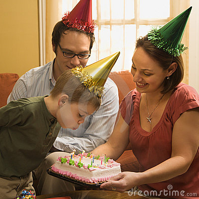 Free Family Birthday Party. Royalty Free Stock Image - 2432166