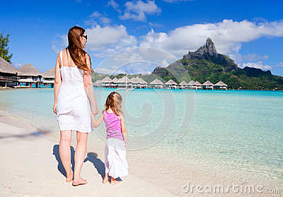 Family on Bora Bora vacation