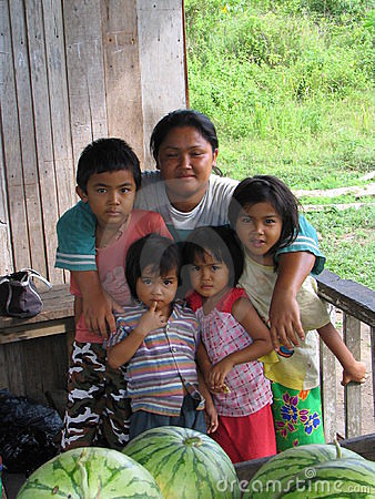 Family from borneo Editorial Photo