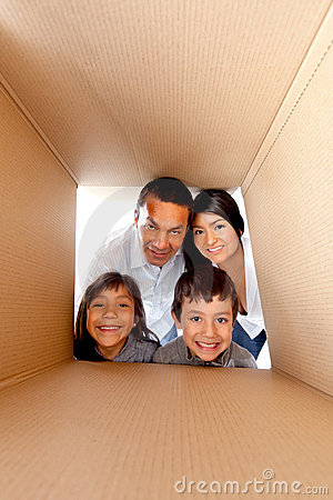 Family in a box