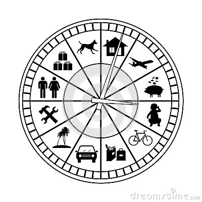 Family budget classical clock