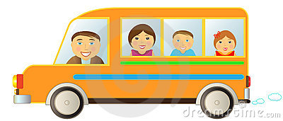 Family in bus