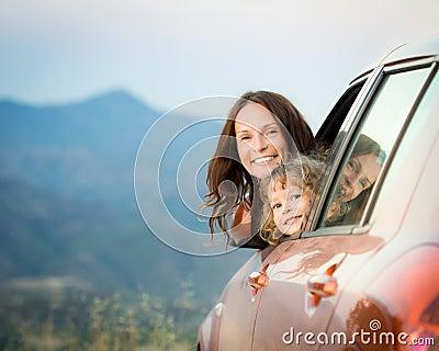 Family car trip